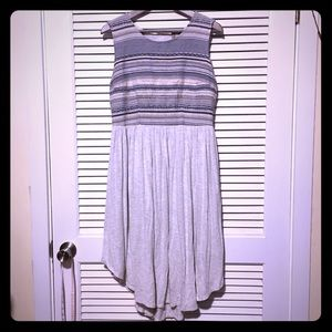 Anthropologie Dolan Stripe High Low Dress
